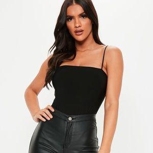 Miss Lola High Leg Black Bodysuit